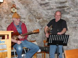 Auch die Musiker waren bestens aufgelegt: Frank Beuschel und Dieter Vatter