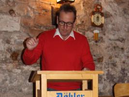 SPD-Fraktionsvorsitzender im Kreistag, Ronald Reichenberg bei der Begrüßungsrede