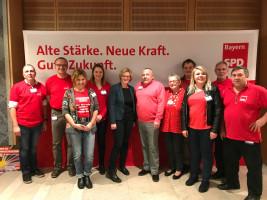 Die ehrenamtlichen Helfer der SPD Ortsvereine Bad Windsheim, Ammerndorf und Diespeck mit Natascha Kohnen