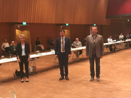 Jürgen Heckel und die stellvertretenden Bürgermeister