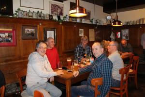 (von links) Matthias Oberth, Fraktionsvorsitzender der SPD Bad Windsheim und die Stadtratskandidaten Gunther Frank, Frank Beuschel, Thomas Lunz und Mikail Özdil
