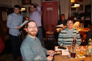 (von links) Stadtratskandidaten Christian Bauer und Claudia Dentzer