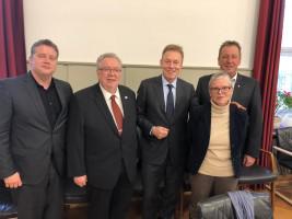 Bundestags-Vizepräsident Thomas Oppermann zu Besuch in Bad Windsheim im Rathaus