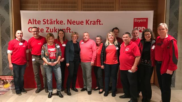 Die ehrenamtlichen Helfer der SPD Ortsvereine Bad Windsheim, Ammerndorf und Diespeck