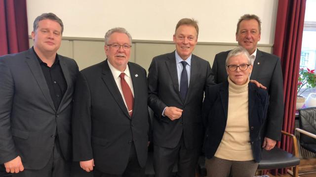 Bundestags-Vizepräsident Thomas Oppermann zu Besuch in Bad Windsheim.
